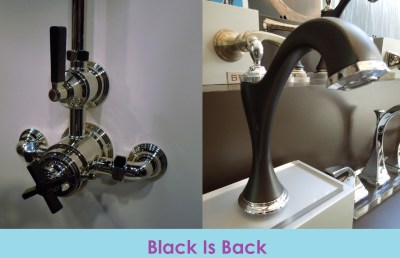 Black faucets