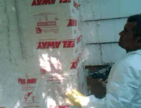 Removing Old Paint from Brick Walls :: Paint Removal Peel Away Brick Chimney