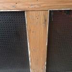 Staples in Wood Screen Door Frame