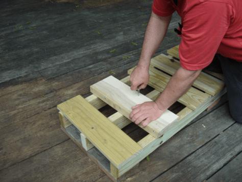 Marking a decking plank