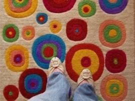Carpet Fibers :: rug circles underfoot