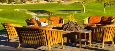 Elegant Wood Patio and Deck Furniture Golf Course