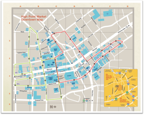High Point Market Downtown Map