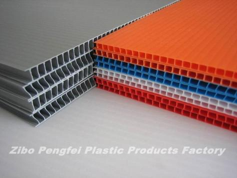 Corrugated Plastic ecvv for Building a Green Wall