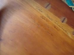 Craftsman Signature underside Thos Moser furniture