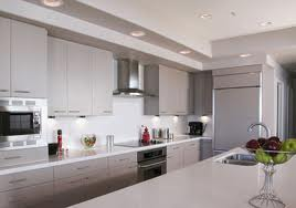 White Toned Modern Kitchen Small
