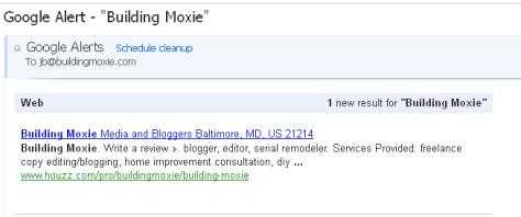 Build a Web Presence Using Houzz :: Google Alert Building Moxie on Houzz