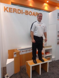 Kerdi Board demo Schulter Systems Booth at the Remodeling Show