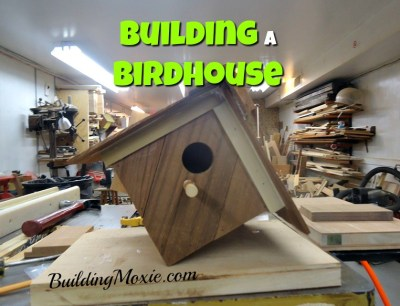 completed cedar birdhouse