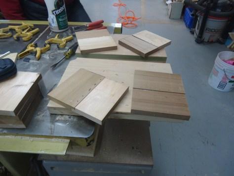 glued pin nailed notched boards