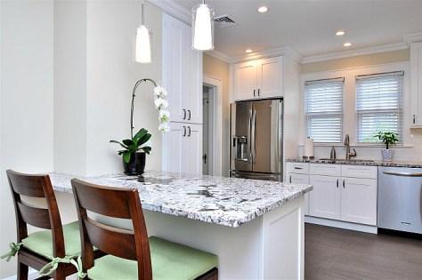 open modern kitchen with peninsula