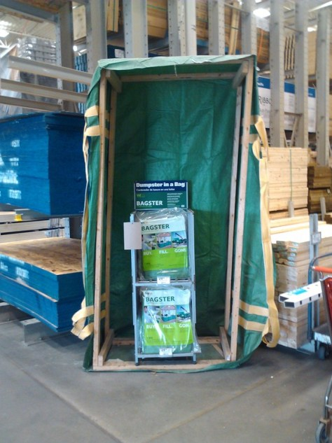 bagster bag at Lowes
