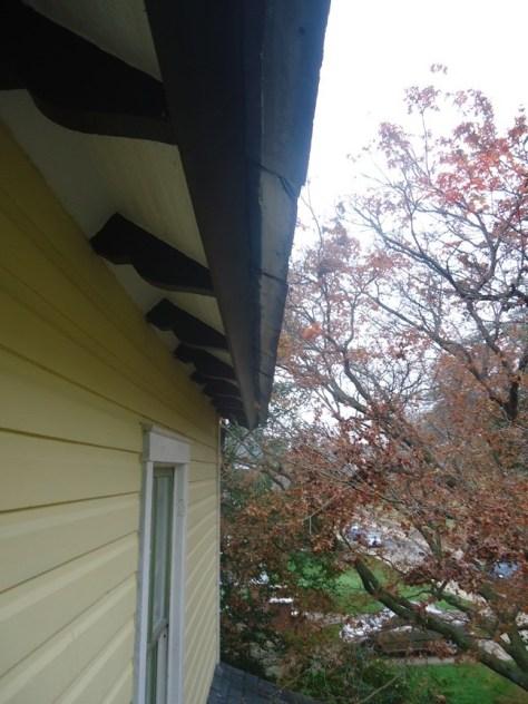 replaced angled fascia board