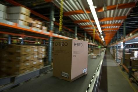Brizo Package on Conveyor