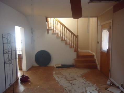 living room to upstairs before
