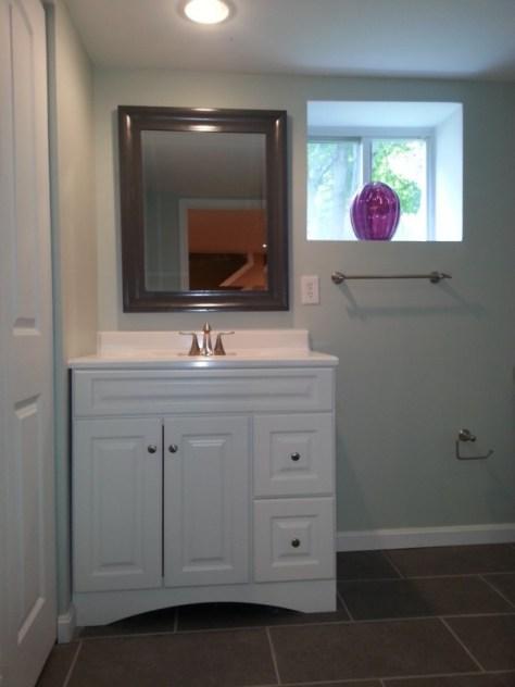 new basement bath