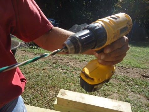 Winding thhn cable with drill driver
