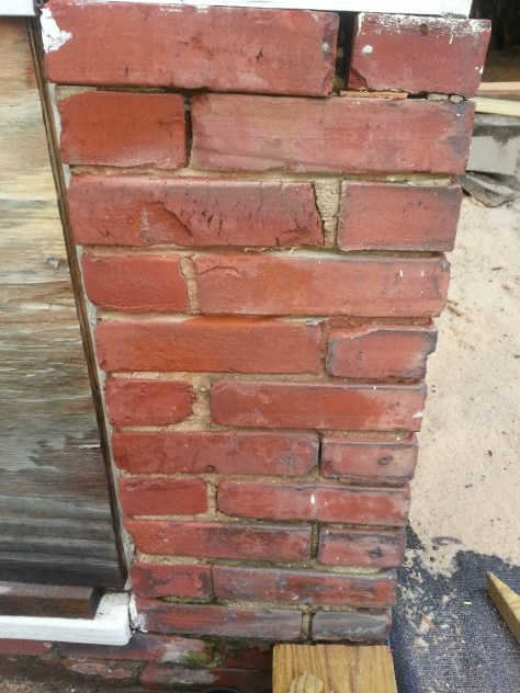 brick compressed mortar crumbling