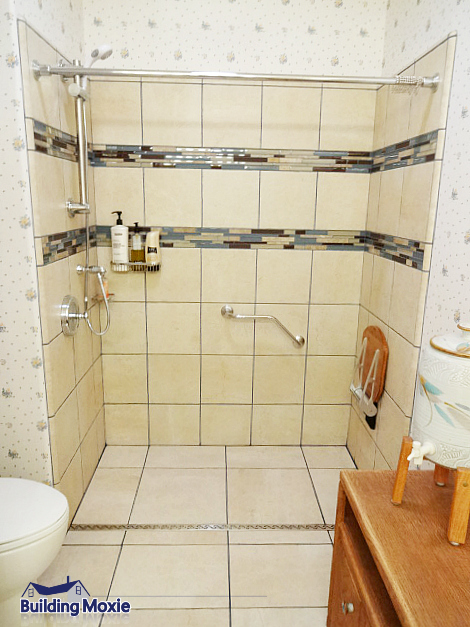 Zero Clearance Inline Shower- Shower Enclosure