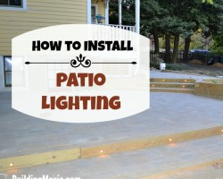 How to Install Patio Lighting-home