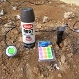 Spray-Painting-Deck-Lights