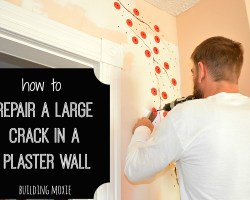 how to repair a large crack in a plaster wall