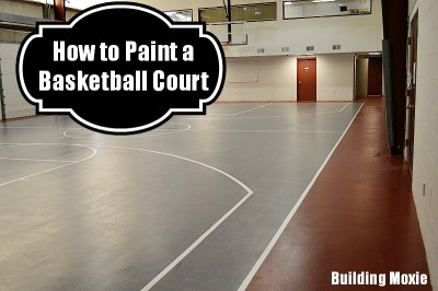 painting a basketball court