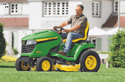 John Deere Dude Mowing