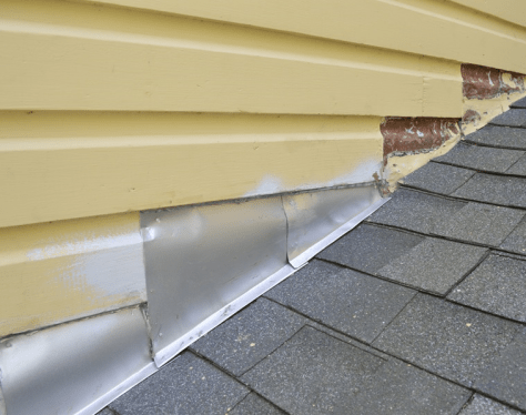 counter flashing installed