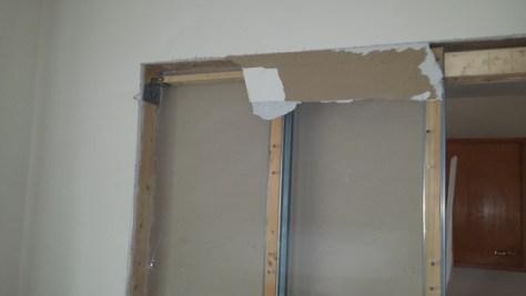 pocket door frame - top