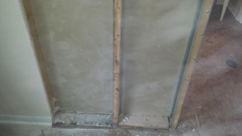 Pocket Door Frame Inside a Wall