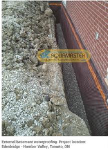 Waterproofing exteriort