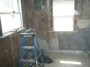 Closed Off Room for Plaster Removal