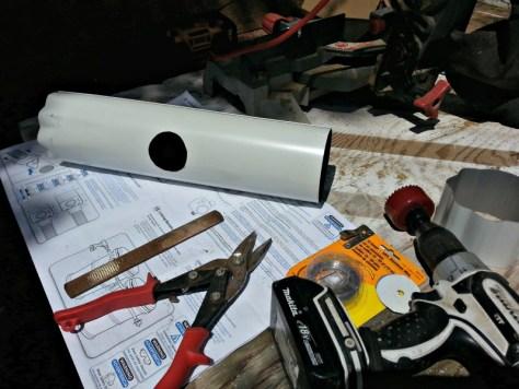 Round Downspout Patch Rain Barrel Diverter
