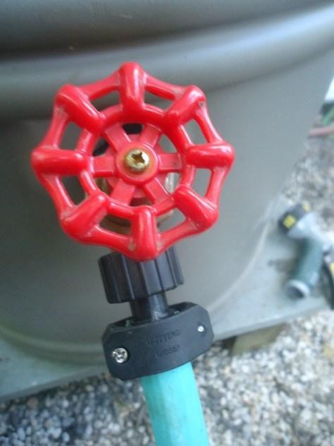 Scrap 5/8-inch garden hose with hose repair mend