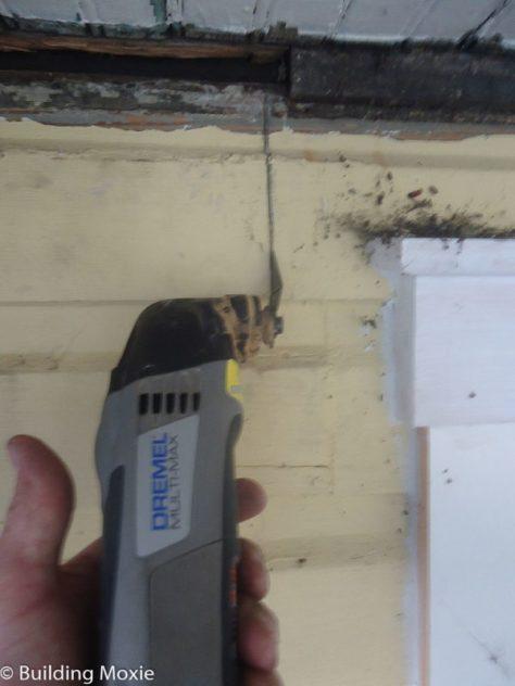 Repairing Dutch Lap Wood Siding - Cut with an Oscillating Multi-Tool