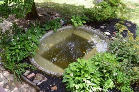 Concrete Pond Above Pump Installed