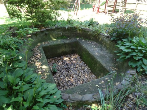 Concrete Pond Before