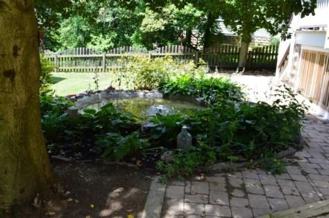 WrapAround Patio with a Concrete Pond