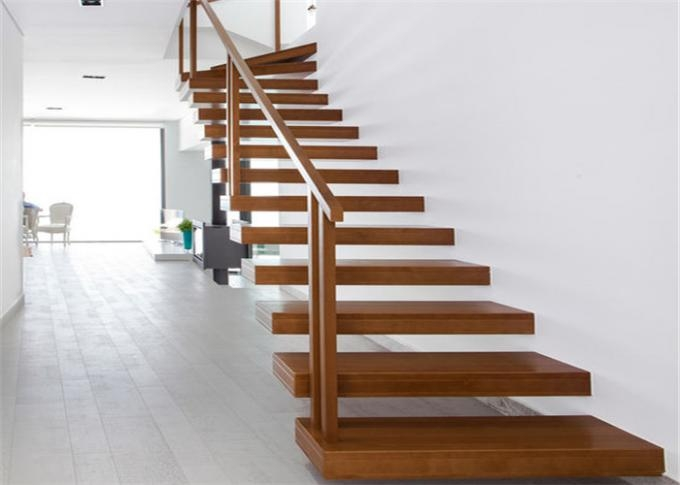 Minimalist Modern Wooden Staircase Designs Floating | Wooden Stairs Railing Design With Glass