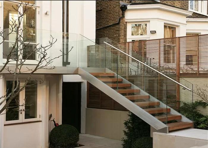 Metal Stringer Straight Flight Staircase Solid Oak Stairs Low | Solid Oak Stair Stringers | Mono Stringer | Handrail | Steel Stair | Deck Stairs | Flooring