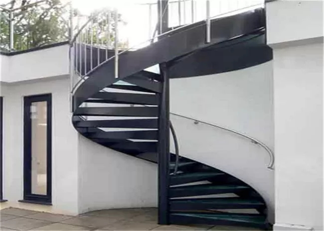 Strong Residential Spiral Staircase Wood Treads Compact Spiral | Diy Outdoor Spiral Staircase | Small Space | Before And After | Backyard | Half Circle | Metal