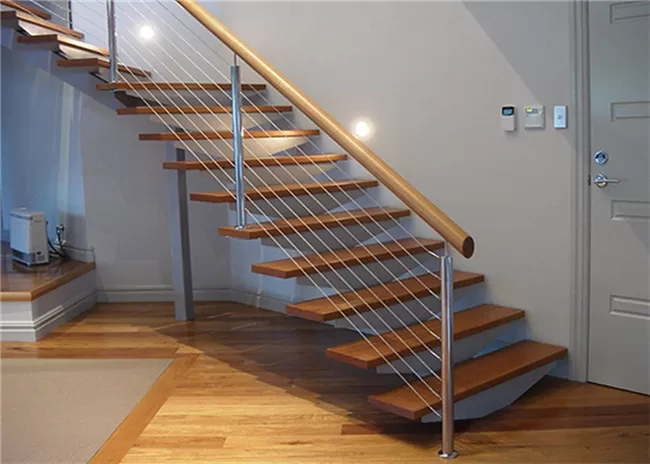 Residential Handrail Stainless Steel Cable Railing Systems For   Steel Cable Stair Railing   Diy   White   Balcony   Steel Wire   Industrial