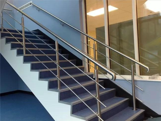 316 304 Stainless Steel Stair Railing 12 7Mm Rod Diameter Indoor | Stainless Steel Outdoor Stair Railings | Horizontal | Balcony 4X10 | Metal | Black | Hand