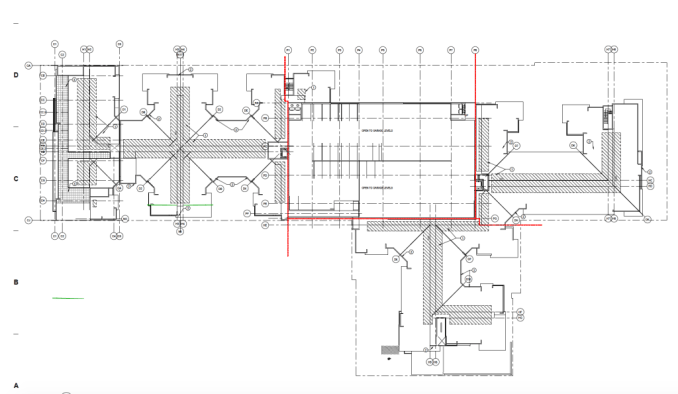 Site plans for the Liberty Boulevard Apartments.