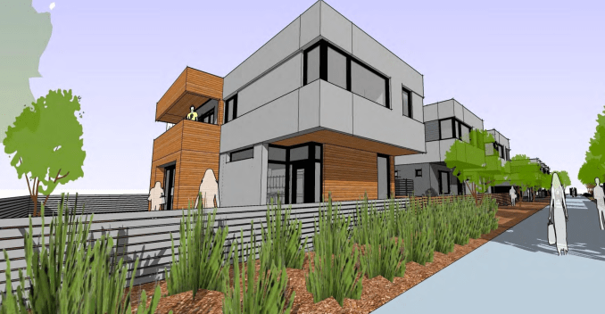 Rendering of Jefferson Walkway homes. Image courtesy Salt Lake City Planning Division.