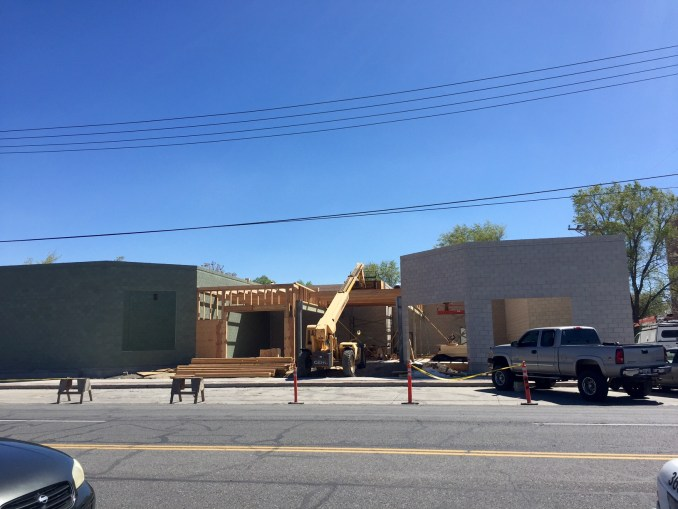 Construction is underway on the Central Ninth Market on the 100 West block of 900 South. Photo by Isaac Riddle.