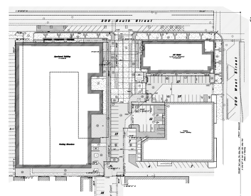 The site plan for AC Hotel project. Image courtesy Salt Lake City Planning Division.