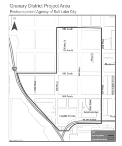 Map of the Granary District project area. Image courtesy Salt Lake City.