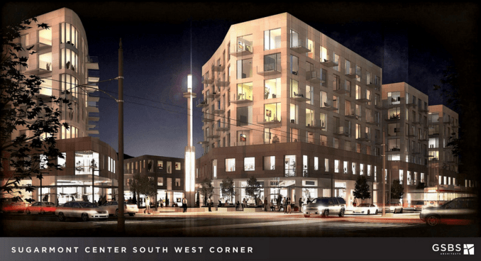 A 2014 rendering of the Sugarmont development as designed by GSBS Architects.